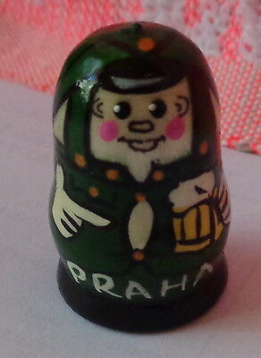 HAND PAINTED WOOD  RUSSIAN THIMBLE    Svejk  Praha #8S