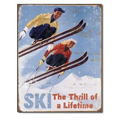Ski - Thrill of a Lifetime Metal Tin Sign , 12x16 New