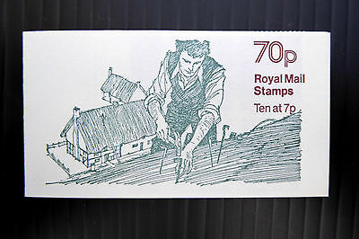 GB Machin 1978 - 70p Thatching Selvedge to Left F63A Cyl with Good Perfs FP3163