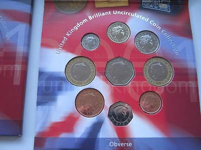 2001 Royal Mint  B UNC coin colection year set.