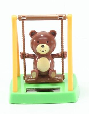 Adorable Swinging Bear Solar Powered Toy Home Decor Birthday Gift US Seller