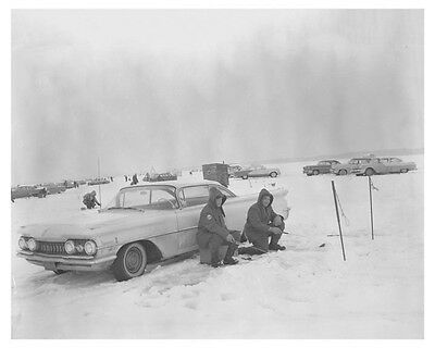 1959 Oldsmobile Ice Fishing Automobile Photo Poster zch7702