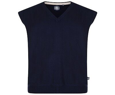 NEW Mens Big Size Kam Navy Sleeveless Slipover Sweater 3XL 4XL 5XL 6XL 7XL 8XL