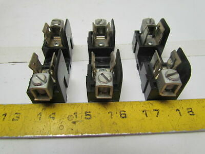 Gould 20355 Fuse Block/Holder 250V 30A Adder Pole Type Class H/K Fuses Lot of 3