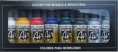 AIRBRUSH PAINTS - VALLEJO MODEL AIR BASIC COLOR KIT (8 x 17ML BOTTLES)