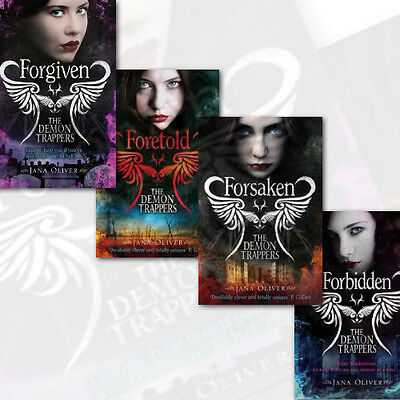 The Demon Trappers 4 Books Collection Set by Jane Oliver (Forsaken,Forbidden) UK