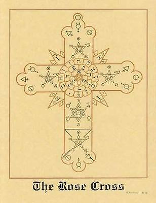 Rosicrucian Cross (Rose Cross) Parchment Page for Book of Shadows!