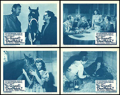 THE GREAT DAN PATCH/HORSE RACING original lobby card movie posters GAIL RUSSELL