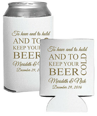 50 Custom Personalized Foam Can Coolers Perfect for Wedding Favors