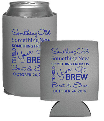 100 Custom Personalized Foam Can Coolers Perfect for Wedding Favors