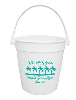 150 Custom Personalized 32oz Buckets for Destination Wedding or Event Favors