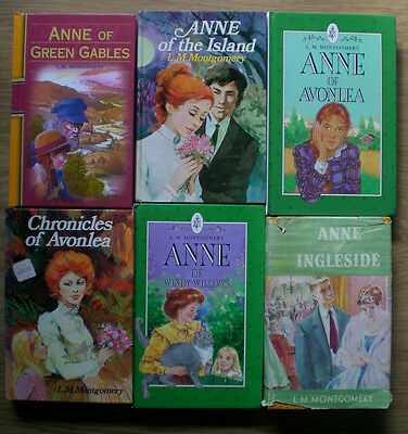 6 x  ANNE h/cs L.M.  MONTGOMERY - GREEN GABLES etc. Children's Series bulk lot