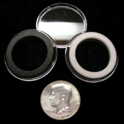 25 Airtite Coin Holder Capsule White Ring 30 Mm Half Dollar / Half $ / 50 Cents