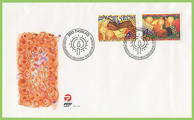 Greenland 1999 Christmas set on First Day Cover