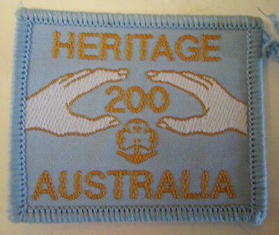 AUSTRALIA 1980s GIRL GUIDES/BROWNIES HERITAGE 200 BADGE/PATCH NEW COLLECTABLE