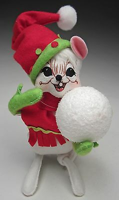 Annalee Christmas New for 2015 Mobility Figure 6 inch Jolly Lolli Snowball Mouse