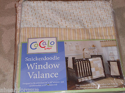 New Cocalo Baby Valance Snickerdoodle Basket Weave Look Stripes Any Age Room Tan