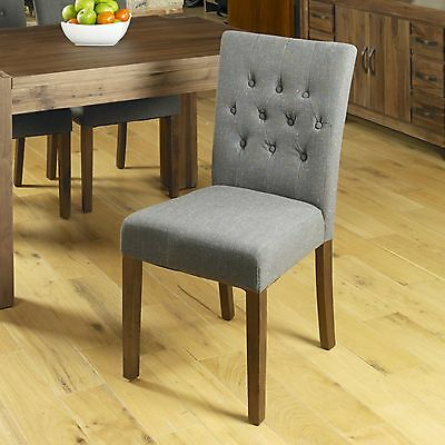 Mayan solid dark walnut furniture set of four flare back slate dining chairs