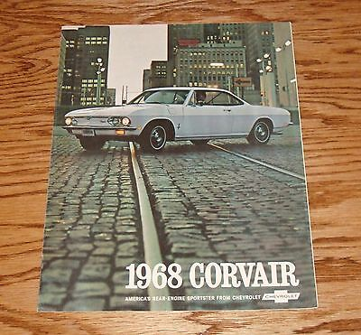 1967 ford mustang shelby gt 350 500 foldout s brochure 67 original 1968 chevrolet corvair foldout s brochure 68 chevy