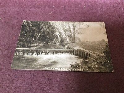 old postcard On The Mill Lade  Montrose
