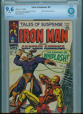 Tales Of Suspense # 97 CBCS 9.6 White Pages First Whiplash