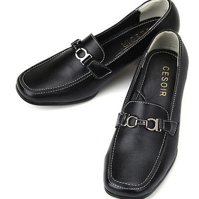 Lovely Comfort Loafers Black Womens Shoes