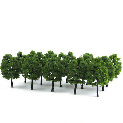 20pcs HO Dark Green Model Trees Train Railway Diorama Building Scenery 3.54""