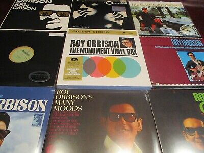 Roy Orbison Hits & Mystery Girl 1St Editions + Monument Box + 45 + 11 Lp Bonus