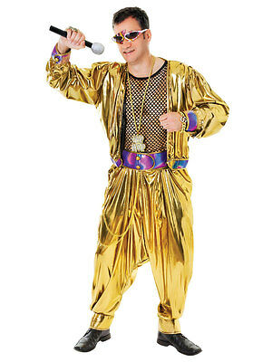 Adult Mens Old School Rapper 80s 90s MC Hammer Fancy Dress Costume Outfit