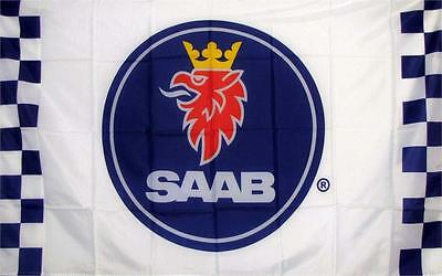 Saab Checkered Logo Dealer Banner Flag Sign