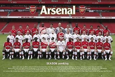 ARSENAL team photo 08/09 MAXI POSTER SP0557