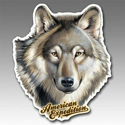 American Expedition CMAG-106 Car Magnet - Gray Wolf New