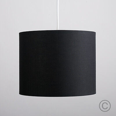 Modern 25cm Black Ceiling Light Pendant Shade Cylinder Lampshade Lounge Lighting