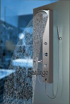Silver Aluminium Shower Panel With Waterfall Sanlingo