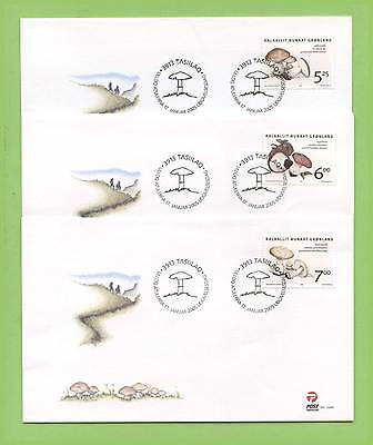 Greenland 2005 Funghi set on three First Day Covers