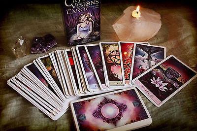 Crystal Visions Tarot Deck 78 Cards Jennifer Galasso Fantasy Fairies BRAND NEW