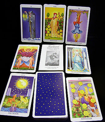 Rider Waite Tarot 78 Radiant Cards Deck Pamela Colman Smith Classic BRAND NEW