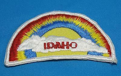 IDAHO ID State Rainbow Embroidered Cloth Patch Souvenir Vintage