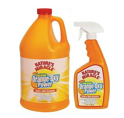 High Quality Natural Orange Oxy Stain & Odor Remover for Pets 24 oz or Gallon