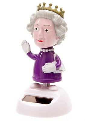 Solar Wackelfigur Queen Wackel England Königin UK Fun Fensterbank Flipflap
