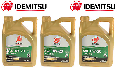 3x 5QT Contain. 0W20 Full Synthetic SN/GF5 Motor Oil for Acura for Honda 4-Mazda