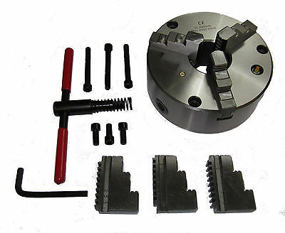 Rdg Tools 200Mm 3 - Jaw Self Centering Lathe Chuck Front Mount Engineering Tools