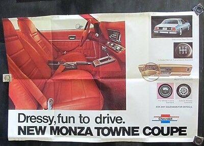 1976 Chevrolet Monza Town Coupe Showroom Poster wv1650