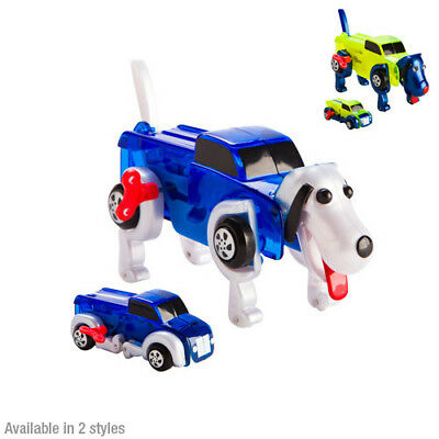 Yellow Brilliant Vehicle Truck Dog Pet Animal Ranger Robot Morphing Wind Up