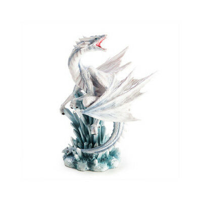White Dragon with Ice Crystals Home Decor Display Figure Statue Figurine Gift