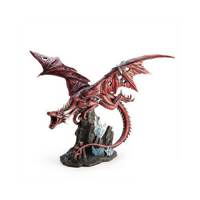 Collection Red Colour Dragon with Crystals Mining Ideal Gift Statue Collector