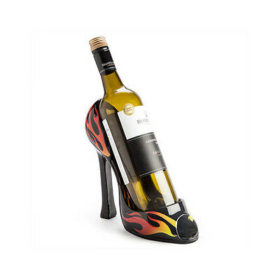 Ladies Woman High Heel Shape Hot Flame Flaming Sexy Wine Elegant Bottle Holder
