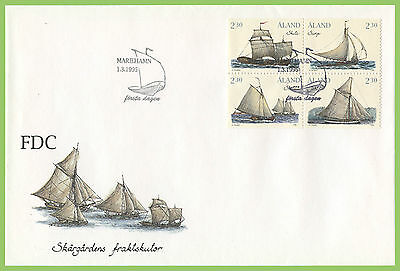 Aland 1995 Cargo Sailing Ships First Day Cover