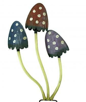 Colourful Large Metal Mushroom Garden Ornament Statue Decoration Toadstool