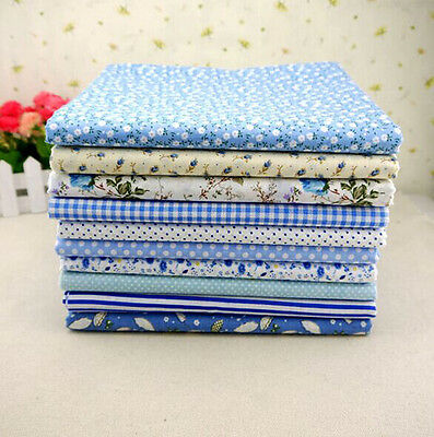 One PCS Cotton Fabric Pre-Cut Cotton cloth Fabric for Sewing Blue D333